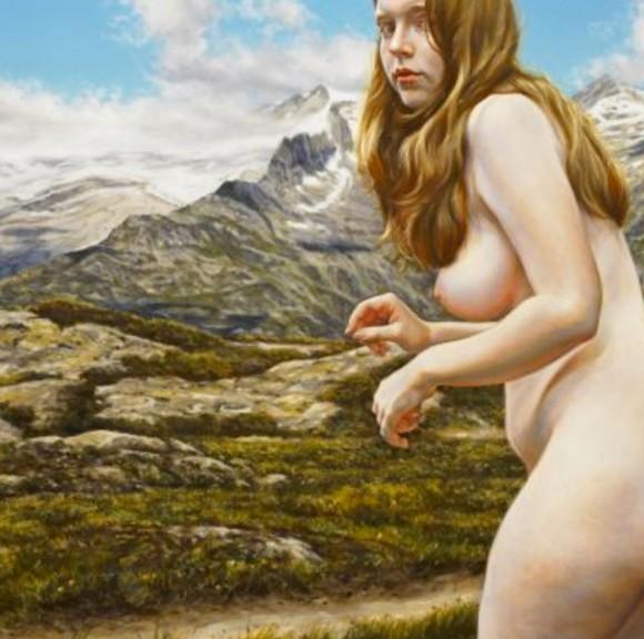 "Artist Susannah Martin's ""Fraulein"", 39"" x 60"", oil on canvas"